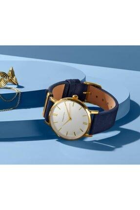 Tchibo Kadın Mavi Deri Kayışlı Saat