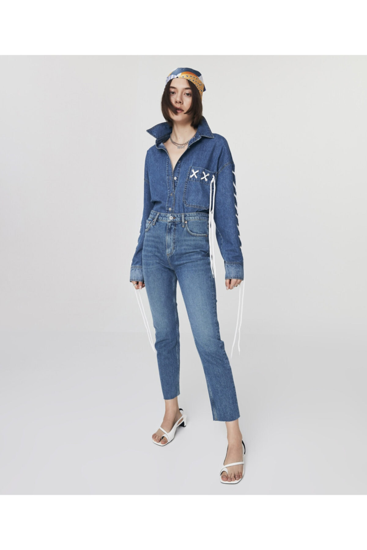 Twist Kadın Mavi High Rise Ankle Length Jean Pantolon TS1210018034 2