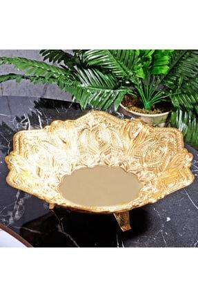 MOS'EV Gold Altıgen Ayaklı Çikolatalık 30cm