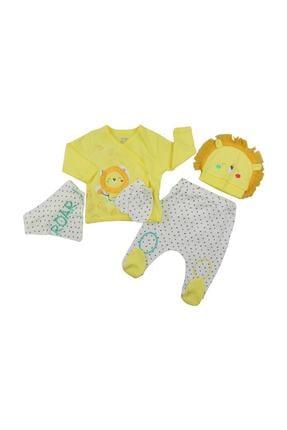 İmaj Erkek Bebek Sarı Aslanlı 5'li Set