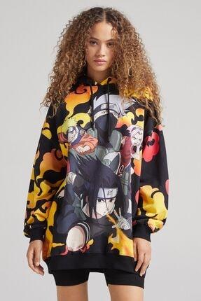 Bershka Pamuklu Naruto Sweatshirt