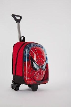 ModACitys Spider Man Erkek Tekerlekli/çekçekli Okul Çantası /anaokulu Çantası