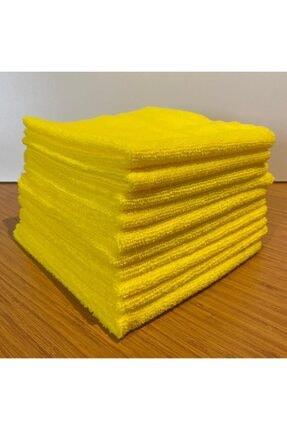 OMG NEW TEX Microfiber Genel Temzilik Bezi 10 Adet Sarı (40*40)