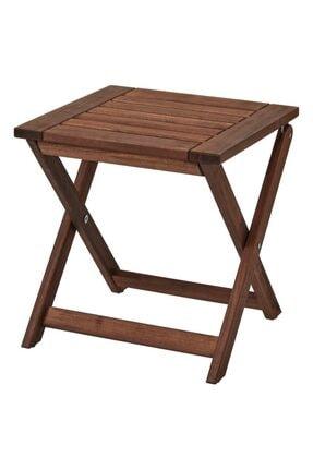 IKEA Applarö Katlanır Masif Ahşap Akasya Sehpa Masa Katlanır Bahçe Teras Balkon Sehpası Masası