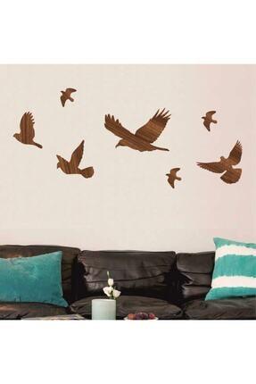 evdeucuz Ahşap Dekoratif Kuş 7 Adet Set