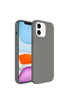 Buff Iphone 11 Uyumlu Rubber S Kılıf Gri