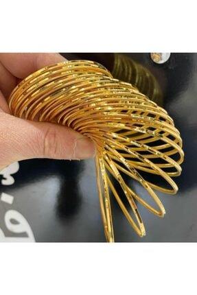 barış gold altın kaplama 22 Ayar Altın Kaplama Kadın Ajda Bilezik Modeli Adet Fiyatıdır