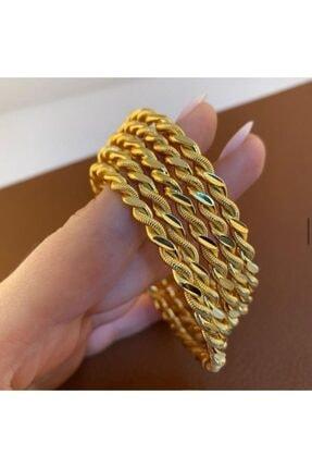 barış gold altın kaplama 22 Ayar Altın Kaplama Kadın 2 Telli Burma Bilezik Modeli Adet Fiyatıdır