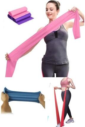 esmelen Kopmaz Yırtılmaz ve Dayanaklı Malzeme Pilates Bandı Egzersiz Lastiği Yoga Bandı