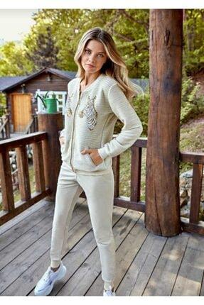Berrak Kadın Pijama Takımı Ekru