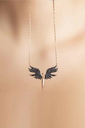 esjewelry Kadın Gümüş Rose Mikail Meleği Model Gümüş Kolye