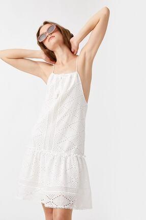 Koton Kadın Beyaz Elbise 1YAK82860UW