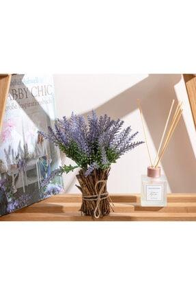 English Home Lavender Leaves Vazolu Yapay Çiçek 23 Cm Mor
