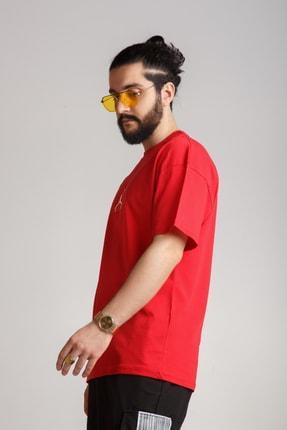 JACKS MAN Kırmızı Oversize T-shirt