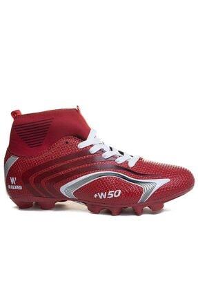 Walked Erkek Kırmızı Çoraplı Krampon Futbol Ayakkabısı
