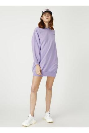 AEROPOSTALE Geri Dönüşümlü Kumaştan Üretilmiş Lila Sweat Elbise