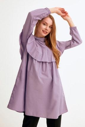 Fulla Moda Kadın Pelerin Yaka Fırfırlı Tunik