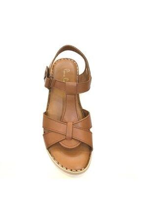 Pierre Cardin 6126-2163 Günlük Kadın Deri Sandalet Taba