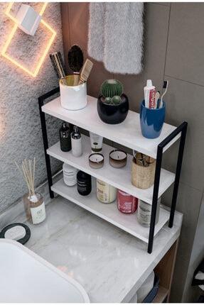 morpanda Siyah Masa Üstü Düzenleyici Organizer Dekoratif Mutfak Banyo Rafı Kitaplık