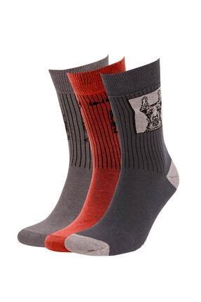 DeFacto Erkek Çok Renkli Desenli 3'Lü Soket Çorap V4935AZ21AUKR
