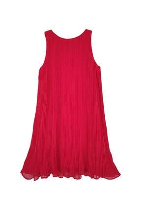 Mango Kadın Kırmızı Pilili Kısa Elbise