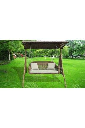 Bellona Çift Kişilik Rattan Salıncak Bahçe Balkon Teras Salıncağı