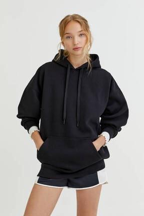 Pull & Bear Kapüşonlu Oversize Sweatshirt