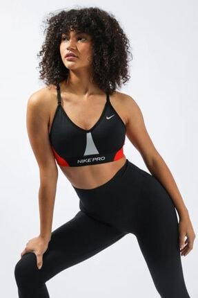 Nike Pro Dri-fit Indy Light-support Padded Colorblock Kadın Büstiyer Siyah Cz7186-010