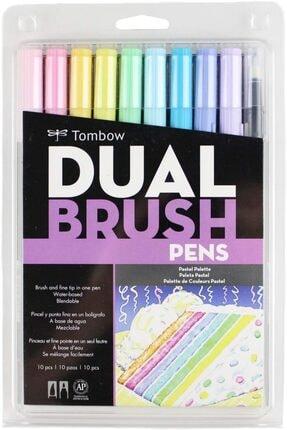 Tombow Abt Dual Brush Pen Grafik Kalemi 10'lu Set Pastel Colors
