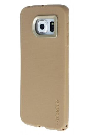 MobilCadde Motomo Smart Samsung Galaxy S6 Edge Uyumlu Gold Silikon Kılıf