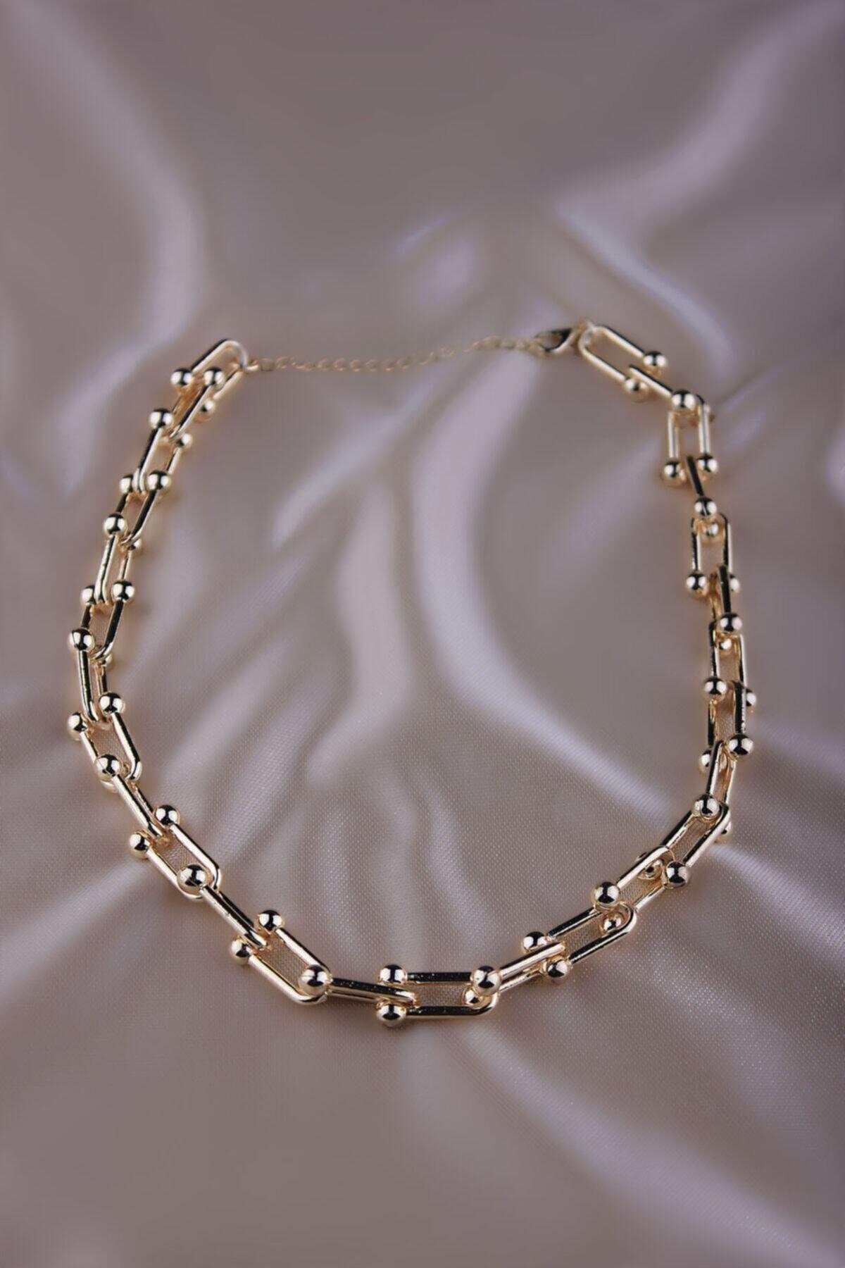 The Y Jewelry Kadın Sarı Tiffany Model Kolye 2