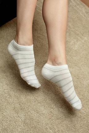 Penti Pembe Gri Beyaz Shiny Line 3lü Patik Çorap