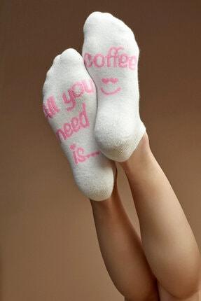 Penti Beyaz Coffee Patik Çorap
