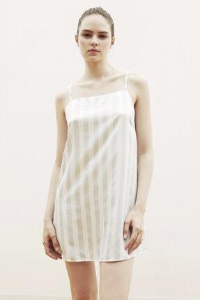 Penti Çok Renkli Stripy Satin Elbise