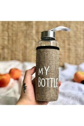 MobilCadde My Bottle Gold Kılıflı Cam Matara 400 Ml