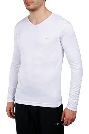 Lescon Erkek Beyaz Uzun Kollu Spor Tshirt 18NTEB001223