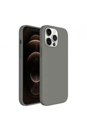 Buff Iphone 12 Pro Max  Uyumlu  Rubber S Kılıf Gri