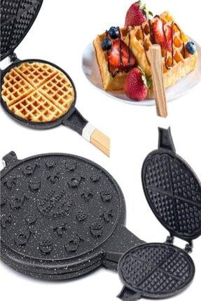 TAŞHAN Döküm Waffle Tavası Ahşap Kulp Siyah
