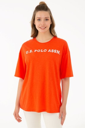 U.S. Polo Assn. Kırmızı Kadın T-Shirt