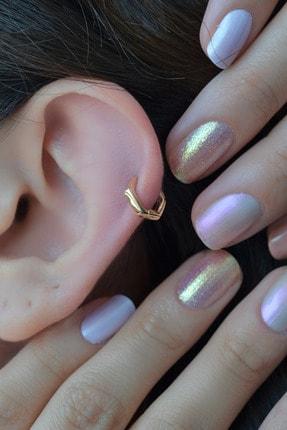 Sacce Scarves&Accessories Beşgen Model Oval Halka Piercing Tragus Helix Kıkırdak Küpesi