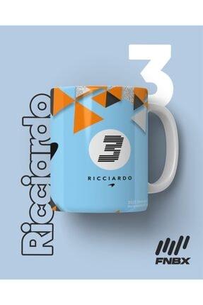 FANBOX SHOP Daniel Ricciardo Mclaren F1 2021 Monaco Gulf Livery Baskılı Beyaz Kahve Kupa Bardak