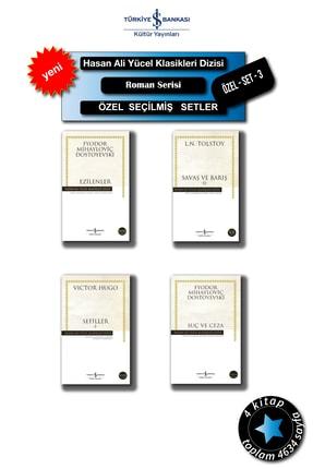İş Bankası Yayınları Hasan-ali-yücel-klasikleri-özel-setleri: Ezilenler Savaş Ve Barış-2 Sefiller-1 Suç Ve Ceza ,set-3