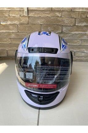 JİEKAİ Motosiklet Kaskı Beyaz Desenli Full Face