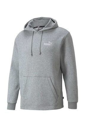 Puma Erkek Spor Sweatshirt - ESS+ Hoodie FL Medium Gray Heather - 84595303