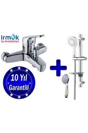 özbay ısı sanayii ö şekil Irmak Banyo Bataryası Musluk Batarya Seti Ve Sürgülü Duş Spiral Başlık Boru Takımı