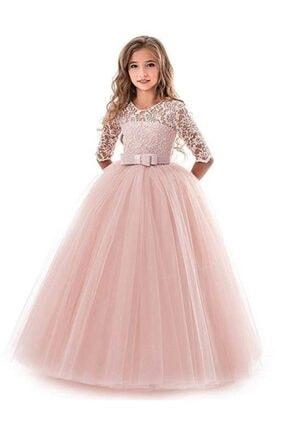 Mashotrend Mashokids Kız  Çocuk Tarlatanlı Model  Abiye Elbise