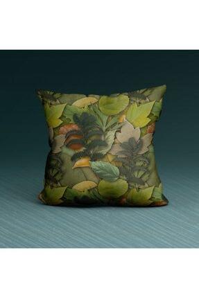 Artikel Green Yaprak Desenli Dekoratif Yastık Kırlent Kılıfı 45x45 Cm