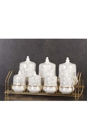 ACAR Porselen 7 Li Standlı Baharat Set Kaı-010574