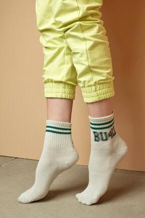 Penti Ekru Bu4u Coll Soket Çorap