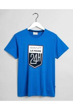 Gant X Le Mans Erkek Regular Fit T-shirt - Mavi